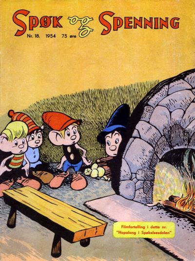 Cover for Spøk og Spenning (Oddvar Larsen; Odvar Lamer, 1950 series) #18/1954