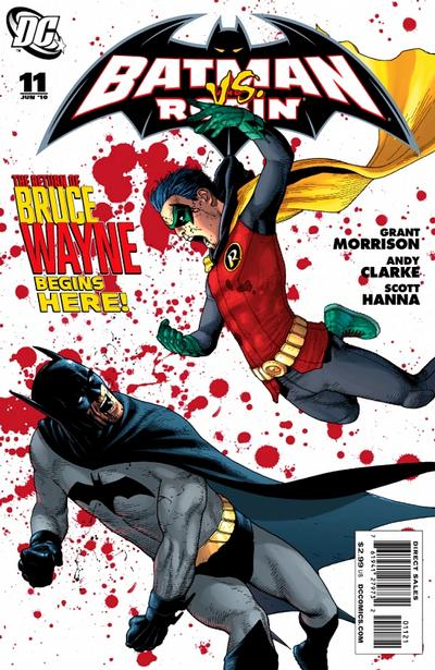 Cover for Batman and Robin (DC, 2009 series) #11 [Andy Clarke Variant Cover]