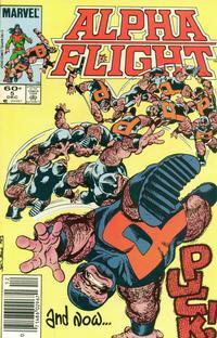 Cover Thumbnail for Alpha Flight (Marvel, 1983 series) #5 [Newsstand]