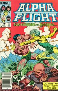 Cover Thumbnail for Alpha Flight (Marvel, 1983 series) #15 [Canadian Newsstand]