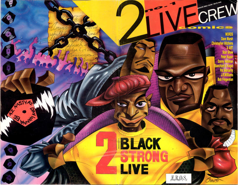 Cover for 2 Live Crew Comics (Fantagraphics, 1991 series) #1