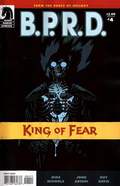 Cover for B.P.R.D.: King of Fear (Dark Horse, 2010 series) #4