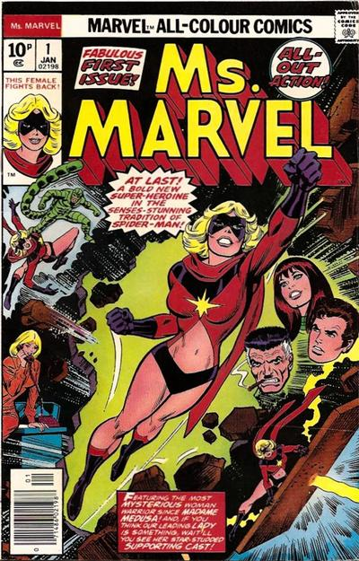 Cover for Ms. Marvel (Marvel, 1977 series) #1 [British price variant]