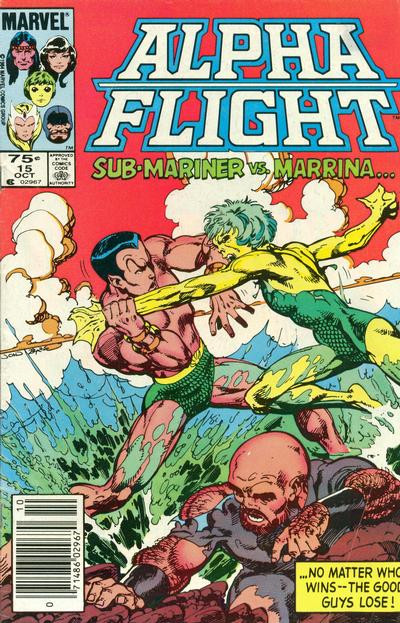 Cover for Alpha Flight (Marvel, 1983 series) #15 [Canadian Newsstand]