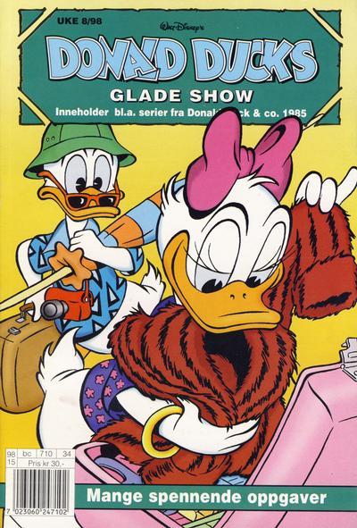 Cover for Donald Ducks Show (Hjemmet / Egmont, 1957 series) #[96] - Glade show 1998 [Reutsendelse]