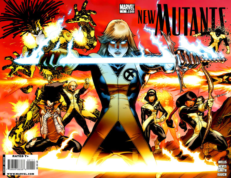 Cover for New Mutants (Marvel, 2009 series) #1 [Cover C - Benjamin Carré]