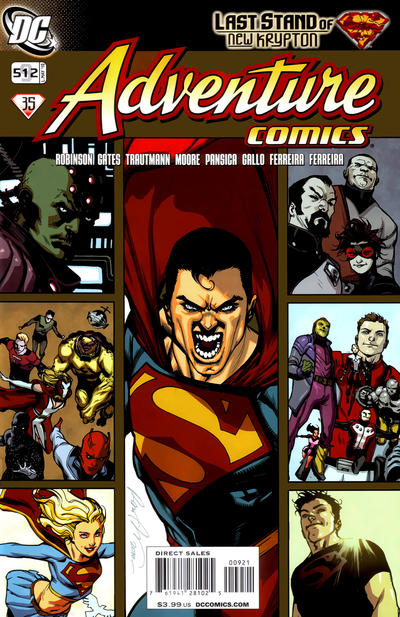 Cover for Adventure Comics (DC, 2009 series) #9 / 512 [Variant Cover (1 in 10)]