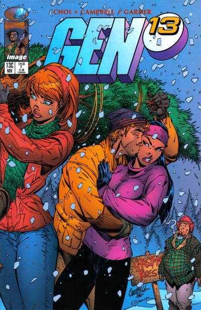 Cover for Gen 13 (Image, 1995 series) #13c [Christmas Variant]