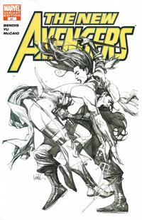 Cover Thumbnail for New Avengers (Marvel, 2005 series) #31 [San Diego Comicon Exclusive Sketch Variant Cover ]