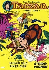 Cover for Tarzan (Atlantic Forlag, 1977 series) #4/1977