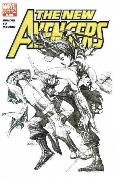 Cover for New Avengers (Marvel, 2005 series) #31 [San Diego Comicon Exclusive Sketch Variant Cover ]