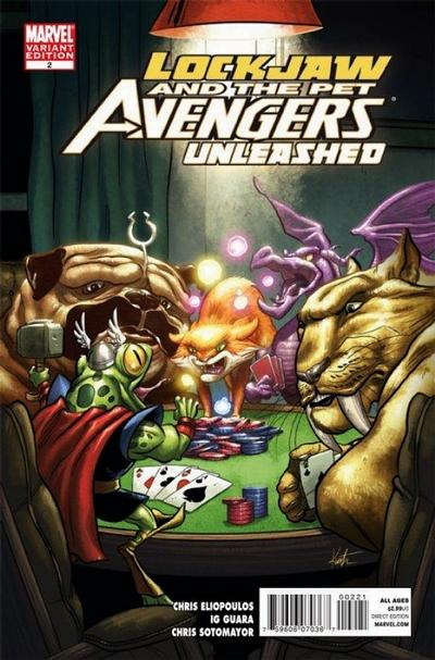 Cover for Lockjaw & the Pet Avengers Unleashed (Marvel, 2010 series) #2