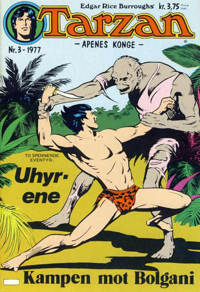 Cover for Tarzan (Atlantic Forlag, 1977 series) #3/1977