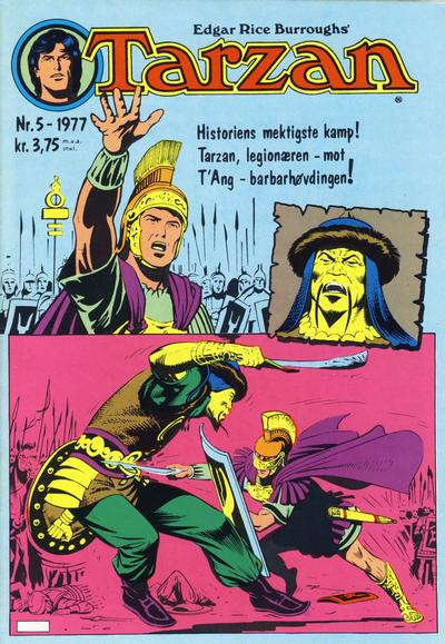 Cover for Tarzan (Atlantic Forlag, 1977 series) #5/1977