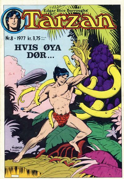 Cover for Tarzan (Atlantic Forlag, 1977 series) #8/1977