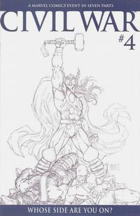 Cover Thumbnail for Civil War (Marvel, 2006 series) #4 [Retailer Incentive Sketch Cover]
