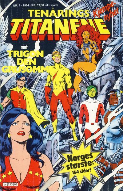 Cover for Tenårings-titanene (Semic, 1984 series) #1/1984
