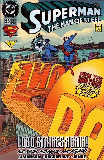 Cover for Superman: The Man of Steel (DC, 1991 series) #30 [Do-It-Yourself Cover]