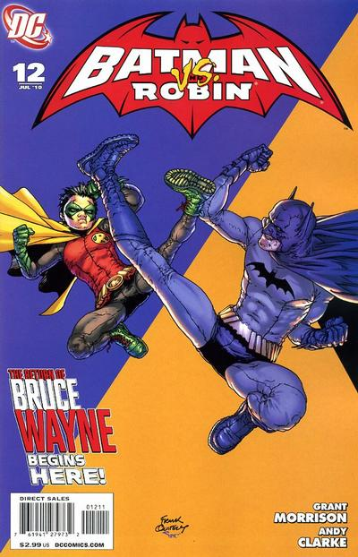 Cover for Batman and Robin (DC, 2009 series) #12 [Andy Clarke Variant Cover]