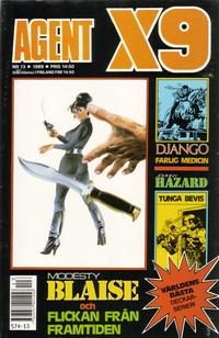 Cover Thumbnail for Agent X9 (Semic, 1971 series) #13/1989