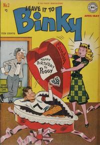 Cover Thumbnail for Leave It to Binky (DC, 1948 series) #2