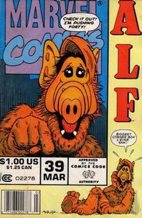 Cover Thumbnail for ALF (Marvel, 1988 series) #39 [Newsstand Edition]