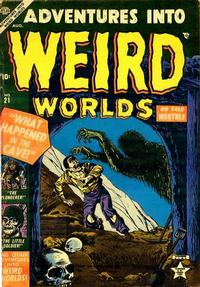 Cover Thumbnail for Adventures Into Weird Worlds (Marvel, 1952 series) #21