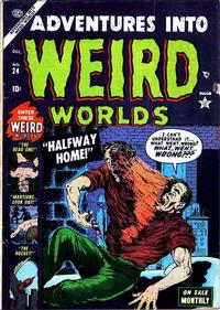 Cover Thumbnail for Adventures Into Weird Worlds (Marvel, 1952 series) #24