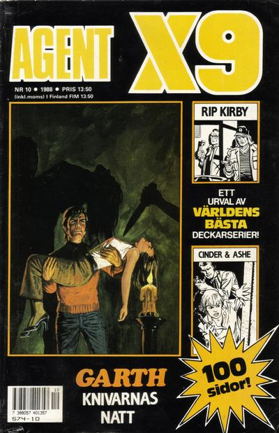 Cover for Agent X9 (Semic, 1971 series) #10/1988