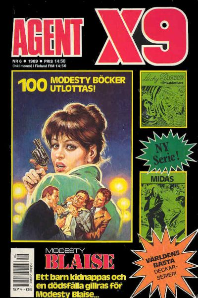 Cover for Agent X9 (Semic, 1971 series) #6/1989