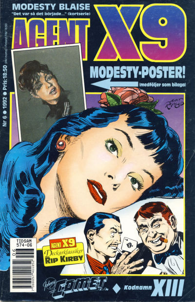 Cover for Agent X9 (Semic, 1971 series) #6/1992