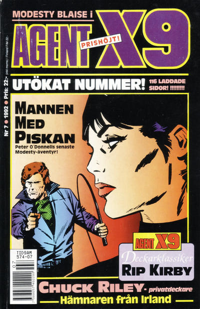 Cover for Agent X9 (Semic, 1971 series) #7/1992