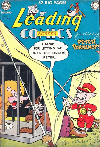 Cover for Leading Screen Comics (DC, 1950 series) #45