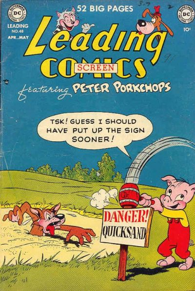 Cover for Leading Screen Comics (DC, 1950 series) #48