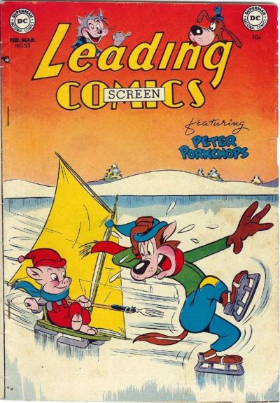 Cover for Leading Screen Comics (DC, 1950 series) #53