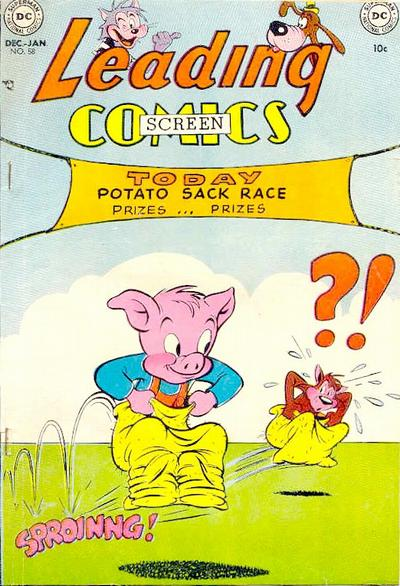 Cover for Leading Screen Comics (DC, 1950 series) #58
