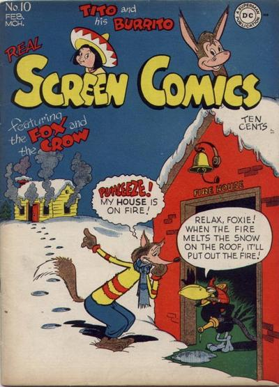 Cover for Real Screen Comics (DC, 1945 series) #10