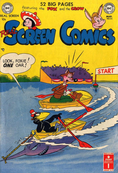 Cover for Real Screen Comics (DC, 1945 series) #36