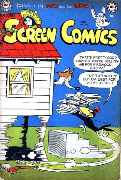 Cover for Real Screen Comics (DC, 1945 series) #45