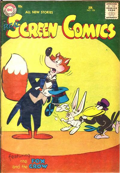 Cover for Real Screen Comics (DC, 1945 series) #106