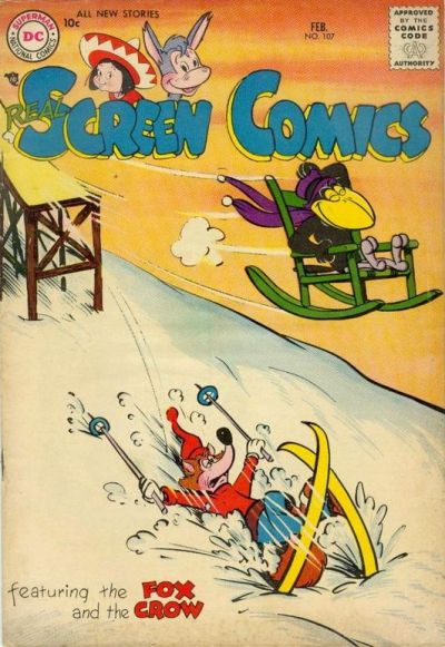 Cover for Real Screen Comics (DC, 1945 series) #107