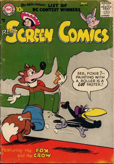 Cover for Real Screen Comics (DC, 1945 series) #110