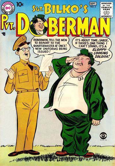 Cover for Sgt. Bilko's Pvt. Doberman (DC, 1958 series) #2