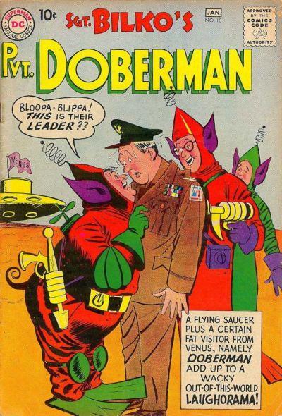 Cover for Sgt. Bilko's Pvt. Doberman (DC, 1958 series) #10