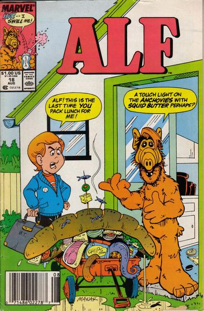 Cover for ALF (Marvel, 1988 series) #18 [Newsstand]
