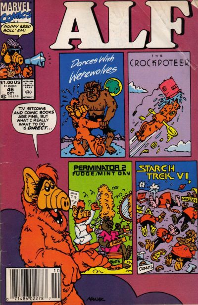 Cover for ALF (Marvel, 1988 series) #46 [Newsstand Edition]