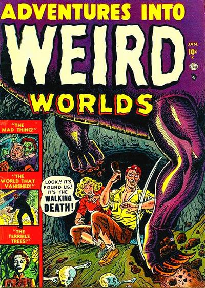 Cover for Adventures Into Weird Worlds (Marvel, 1952 series) #1