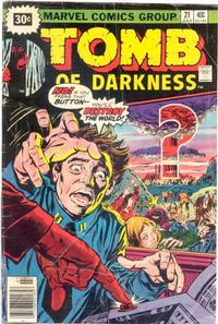 Cover Thumbnail for Tomb of Darkness (Marvel, 1974 series) #21 [30¢]