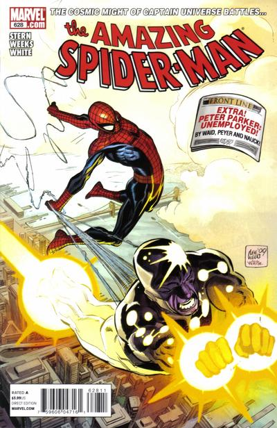 Cover for The Amazing Spider-Man (Marvel, 1999 series) #628 [Iron Man By Design Variant Cover]