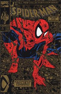 Cover Thumbnail for Spider-Man (Marvel, 1990 series) #1 [Second Printing - Gold Edition]